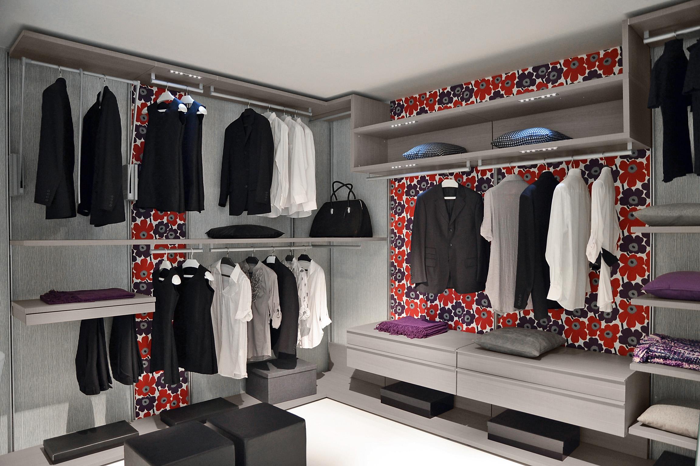 Accessories and furniture walk in closet smart modern organi.