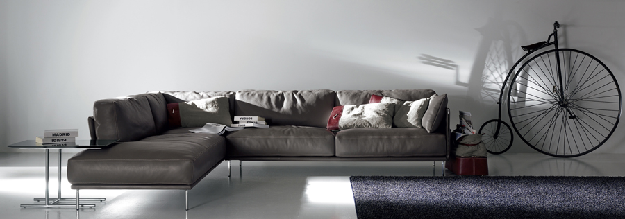 Gamma Jack Leather Sectional Sofa