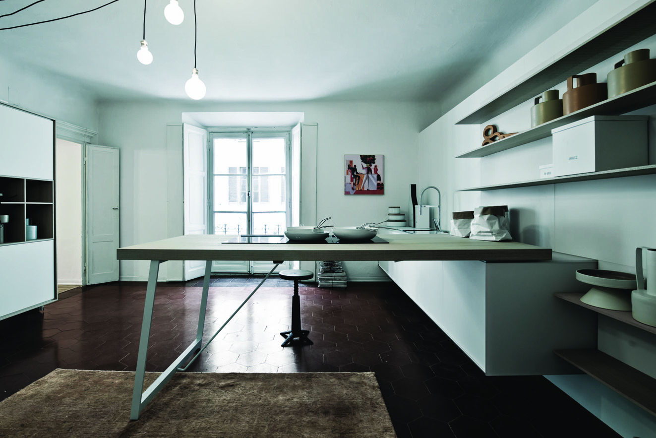 IL Decor Boston: Kalea White Etched Glass Bleached Rough Oak Kitchen ...
