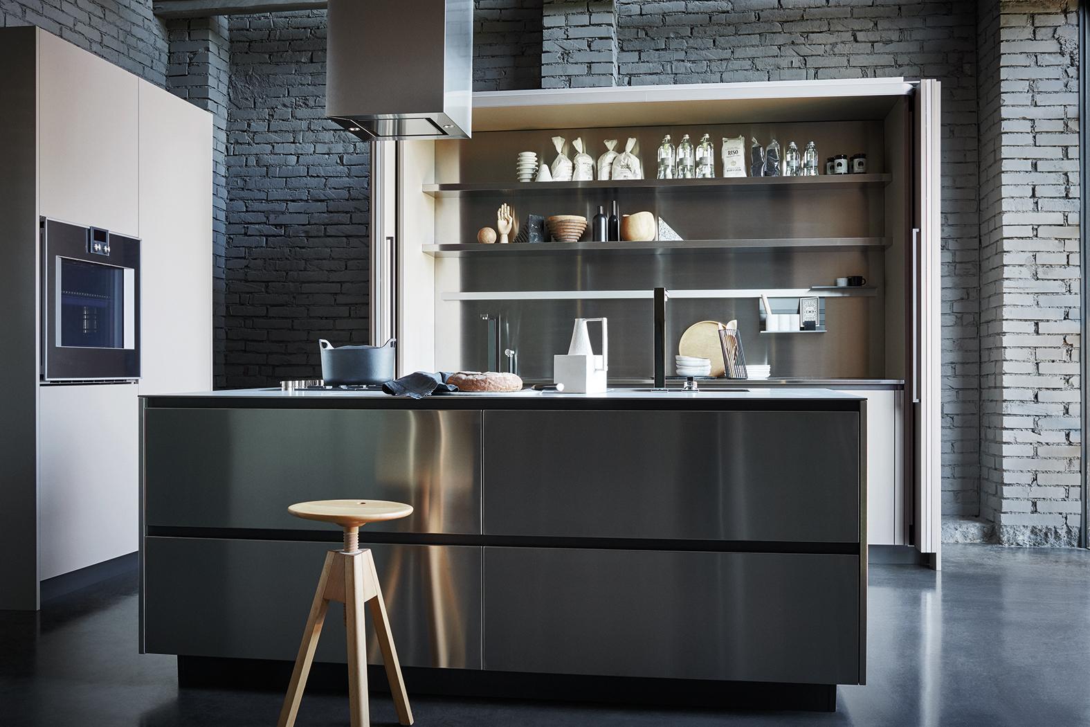 IL Decor Boston Maxima Stainless Steel Mud Fenix Kitchen - Cuisine maxima