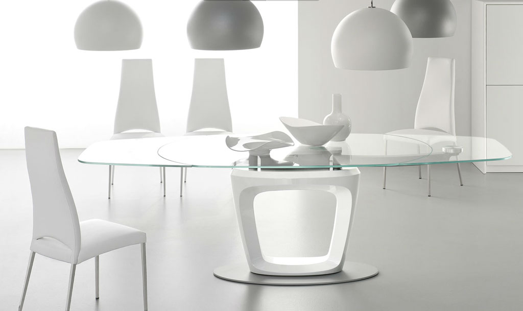 Calligaris Orbital Glass Dining Table