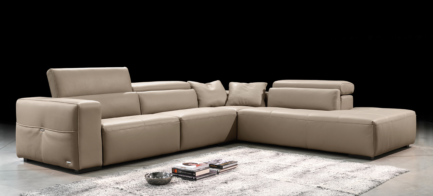 Gamma Tiffany Leather Sectional
