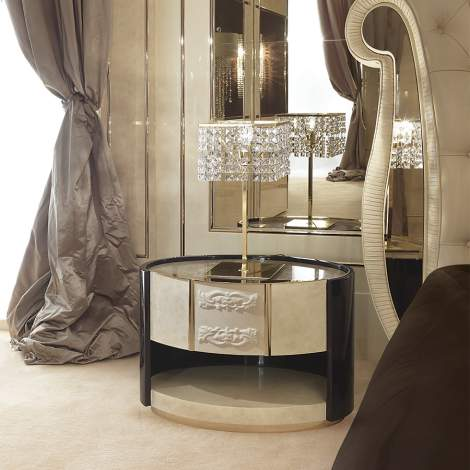 Couture Bedside Table, Turri Italy