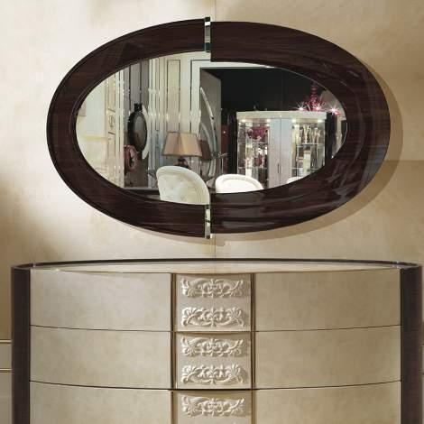 Couture Oval Mirror, Turri Italy