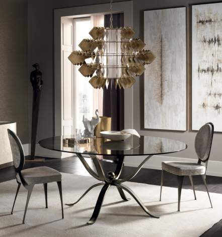 Diamante New Chandelier Ceiling Lamp, Cantori Italy