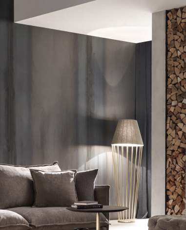 Sofia Modern Floor Lamp with Short Lampshade, Cantori Italy