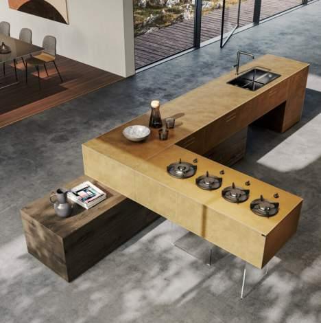 36e8 Metal XGlass Kitchen, Lago Italy
