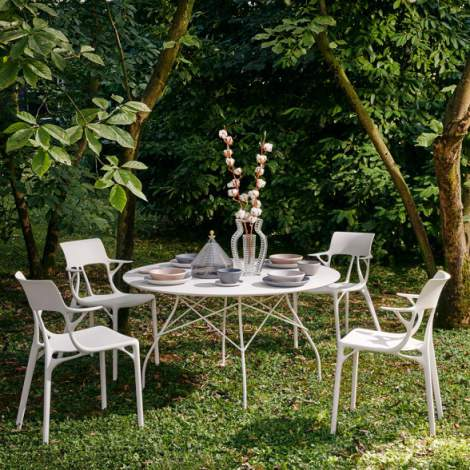 Glossy Outdoor Dining Table, Kartell Italy