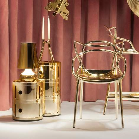 Componibili Metal End Table, Kartell Italy