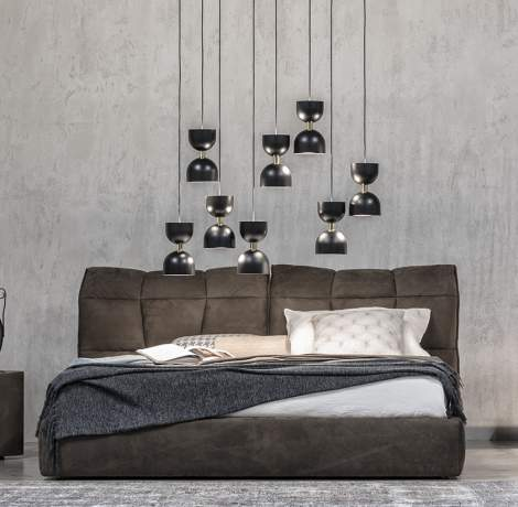 Eva Leather Bed, Cierre Italy