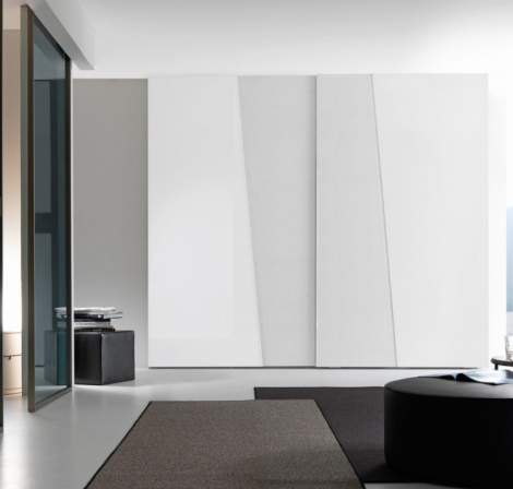Diagonal Wardrobe With Sliding Door, Presotto Italy