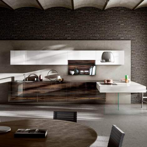 36e8 Wood XGlass Kitchen, Lago Italy