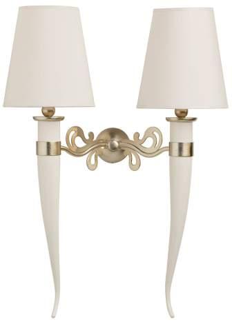Classic Leo 2-light wall lamp, Cantori Italy