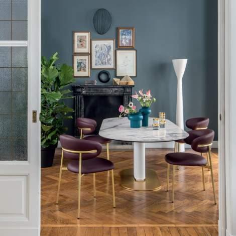 CS/4124-FE Cameo Dining Table, Calligaris Italy