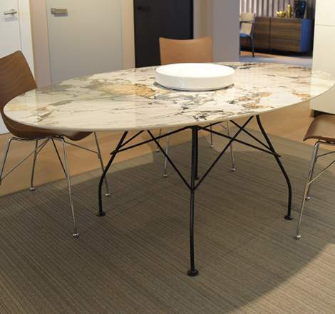 Glossy Oval Dining Table, Kartell Italy