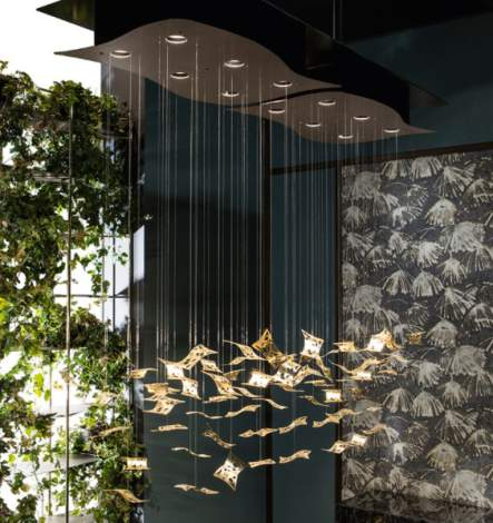 Manta Ray Ceiling Lamp, Cantori Italy