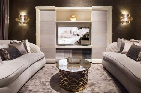 George Modern Bookcase TV Stand, Cantori Italy