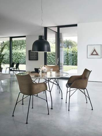 Q/Wood Armchair, Kartell Italy