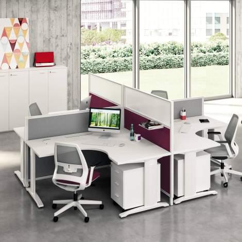 Idea+System Office Desk, Quadrifoglio Italy