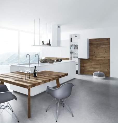Cloe Silk-Effect White Lacquer Kitchen Composition, Cesar Italy