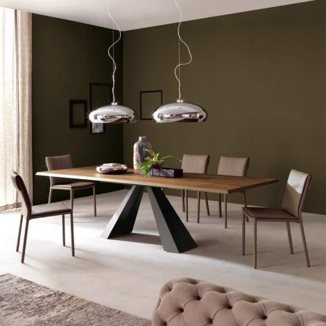Eliot Wood Drive Dining Table, Cattelan Italia
