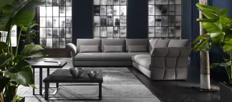 Eva Due Sectional Sofa, Cierre Italy