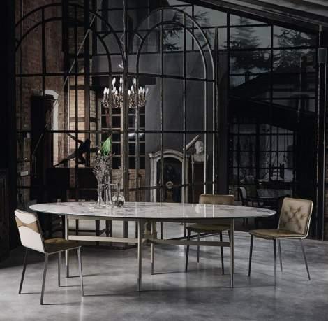 Glamour Elliptic Dining Table, Bontempi Casa