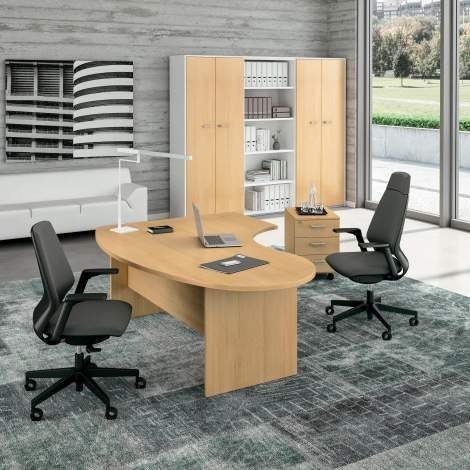 Idea+Pannello Office Desk, Quadrifoglio Italy