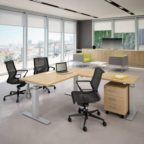Idea+Sit & Stand Office Desk, Quadrifoglio Italy