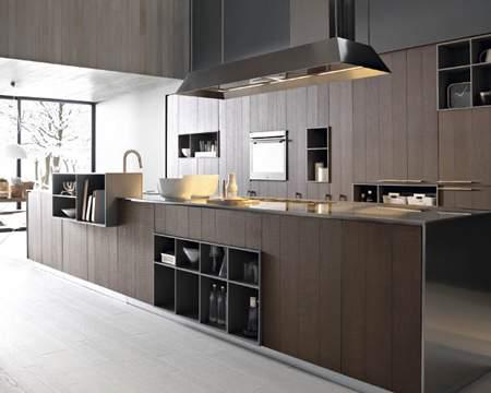 Kalea Cognac Rough Oak Kitchen Composition, Cesar Italy