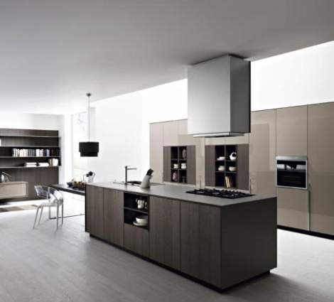 Kalea Mulled Rough Oak Gloss Clay Lacquer Kitchen Composition, Cesar Italy