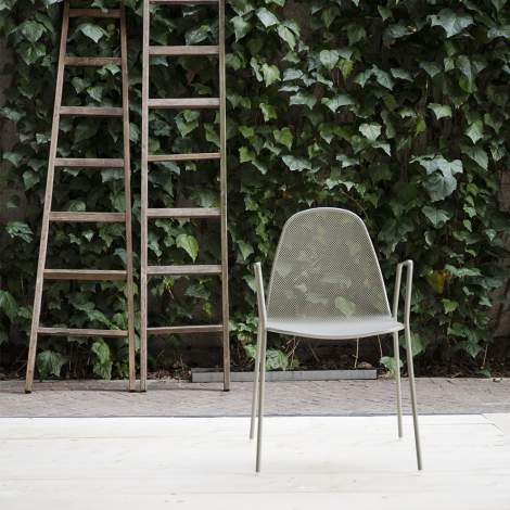 Moon Dining Chair With Arms, Sitia Italy