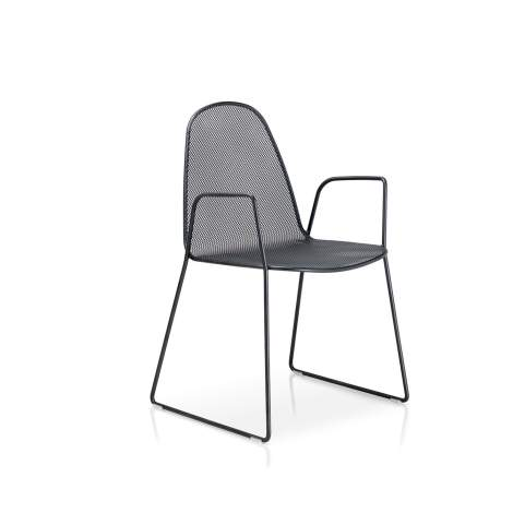 Moon Dining Chair With Sled Base and Arms, Sitia Italy