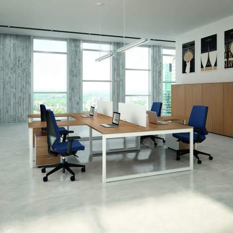 Practika P2 Office Desk, Quadrifoglio Italy