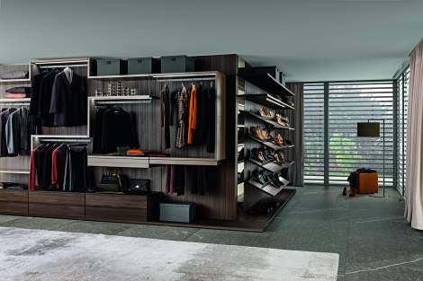 Varius-Varius Free Walk-in Closet Arrangement #5, Presotto Italy