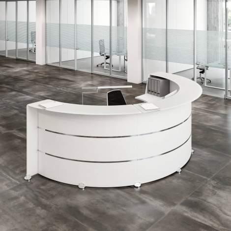 Glass Reception Desk, Quadrifoglio Italy