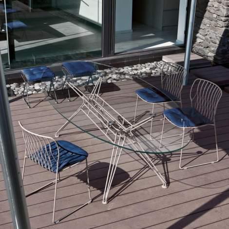 Sander Elliptic Outdoor Dining Table, Bontempi Casa