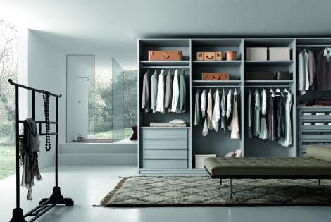 Tecnopolis Free Walk-in Closet Arrangement #8, Presotto Italy