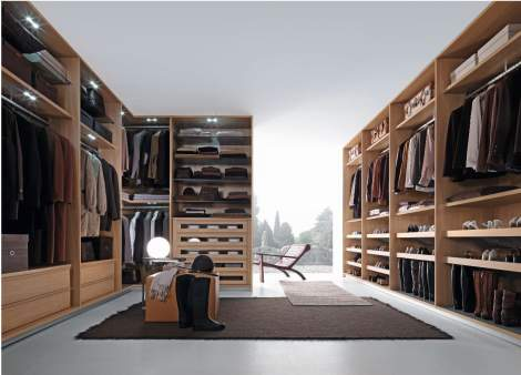 Tecnopolis Free Walk-in Closet Arrangement #7, Presotto Italy