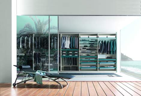 Tecnopolis Free Walk-in Closet Arrangement #5, Presotto Italy