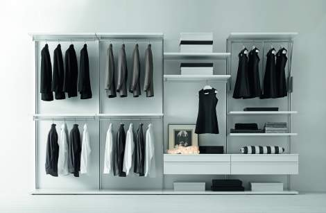 Varius Walk-in Closet Arrangement #9, Presotto Italy