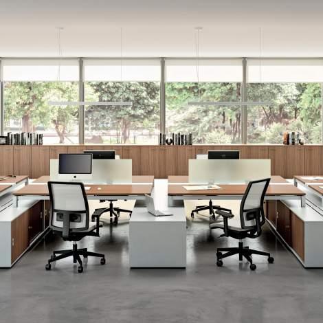 X4 Office Desk, Quadrifoglio Italy