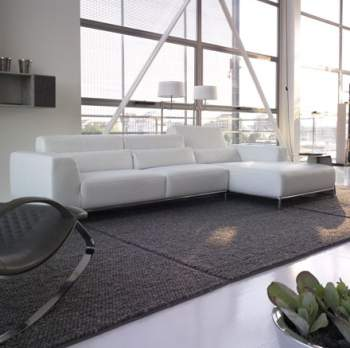 Kafka L leather Sectional, Cierre Italy