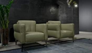 Aida C Leather Armchair, Cierre Italy