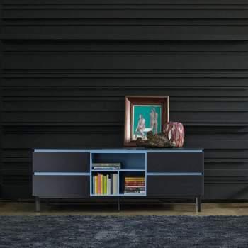 Cosmopolitan Glass Sideboard With 3 Doors, Bontempi Casa