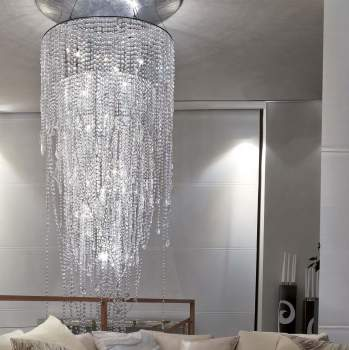Cristalli Big Ceiling Lamp, Rugiano Italy