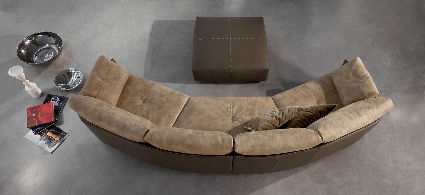 Gamma Swing Leather Sectional